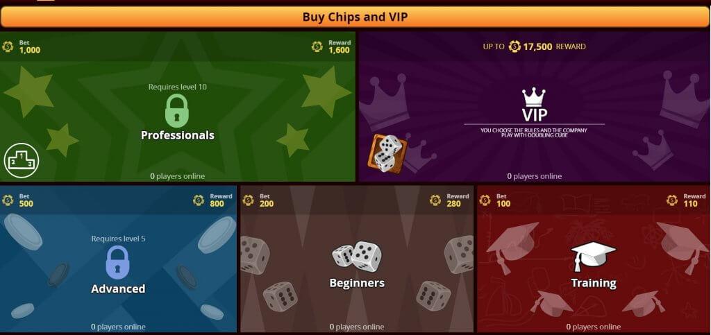 Lobby of VIP Backgammon