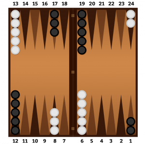Initial placement of checkers